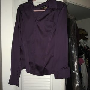 Silk long sleeve blouse the next morning